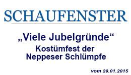 die Neppeser Schlümpfe im Schaufenster Bonn