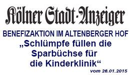 die Neppeser Schlümpfe im Kölner Stadt Anzeiger