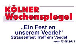 Treff em Veedel 2014 mit den Neppeser Schlümpfen im Wochenspiegel